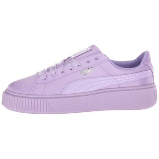 Kids PUMA Girls basket Low Top Lace Up Fashion Sneaker