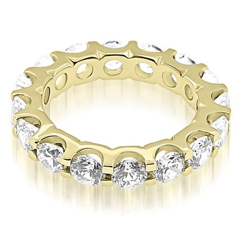 4.00 cttw. 14K Yellow Gold Classic U-Prong Round Cut Diamond Eternity Band Ring