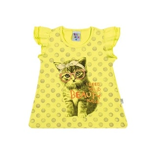 Toddler Girl T-Shirt Infant Kitty Graphic Tee Pulla Bulla Sizes 1-3 Years