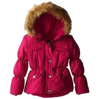 Rothschild Girls Peplum Puffer Coat - L