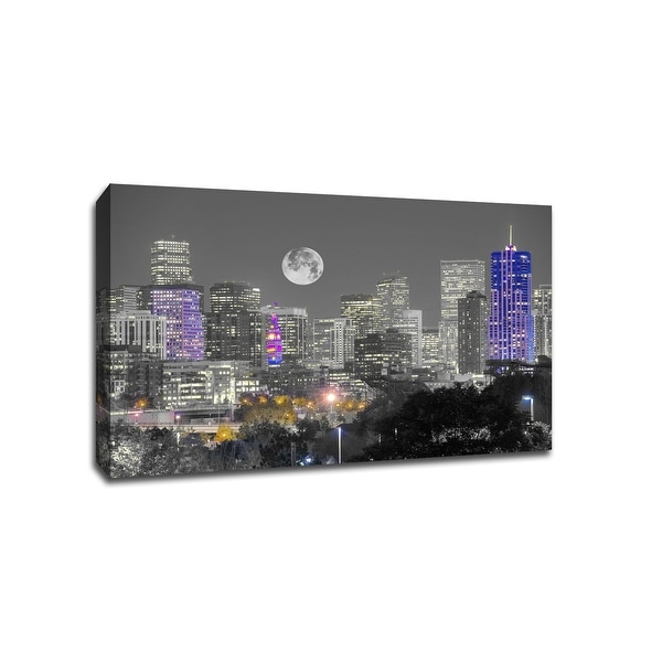 Denver - Touch of Color Skylines - 36x24 Gallery Wrapped Canvas Wall Art ToC