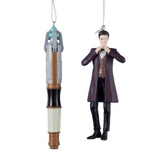 """Doctor Who 4.5"""" 11th Doctor & Sonic Screwdriver Ornament Gift Set"""