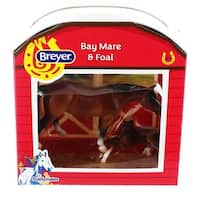 Breyer 1:32 Stablemates Model Horse: Bay Mare & Foal - multi
