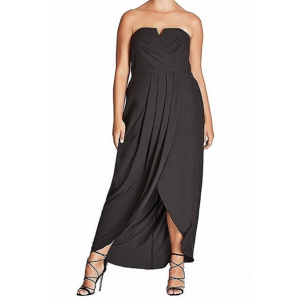 285f4391db Shop City Chic Black Womens Size 24W Plus Draped High Low Maxi Dress - On  Sale - Free Shipping On Orders Over  45 - Overstock - 27439484