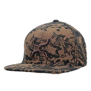 HOOey Hat Mens Baseball Council Snapback Two Tone O/S Brown Camo