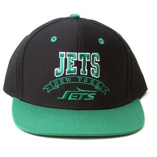 New Vintage Reebok NFL New York Jets Two Tone Black Green Snapback Hat - New York Jets