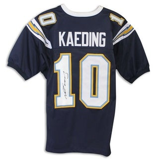 Nate Kaeding San Diego Chargers Autographed Blue Jersey