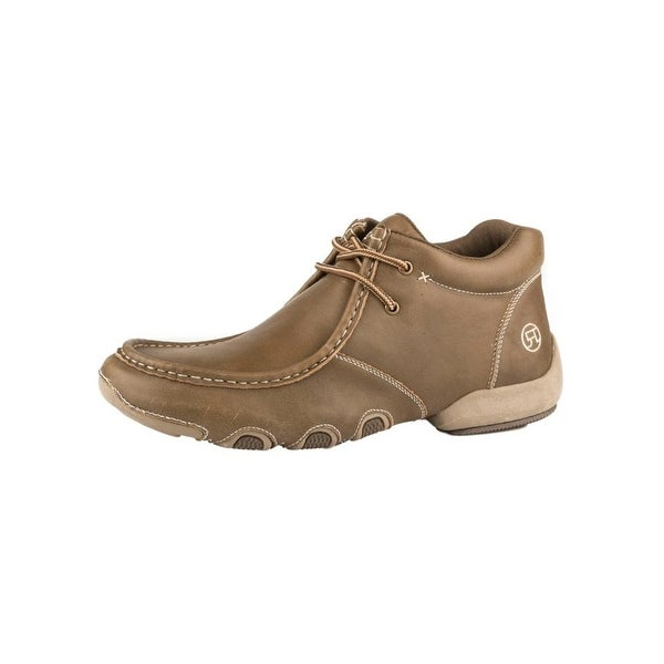 Roper Western Shoes Mens High Cruiser Chukka Tan