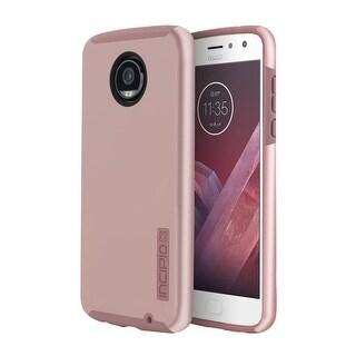 Incipio DualPro Case for Motorola Moto Z2 Play Smartphone -Iridescent Rose Gold/Pink