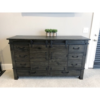 Abington Sliding Door Dresser in Weathered Charcoal