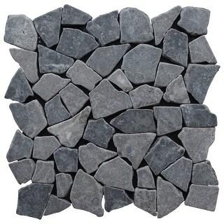 Miseno MT-R3RGY Seamless Mosaic Natural Stone Tile (9.68 SF / Carton) - gray