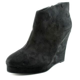 Michael Antonio Cerras Women Open Toe Synthetic Black Wedge Heel