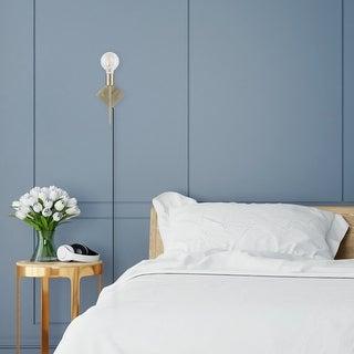 Link to Novogratz x Globe FlatIron 1-Light Antique Brass Plug-In or Hardwire Wall Sconce Similar Items in Sconces