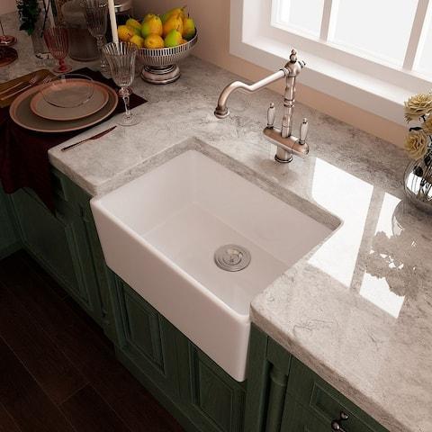 Eridanus Rio 24-in Farmhouse Apron-Front Kitchen Sink