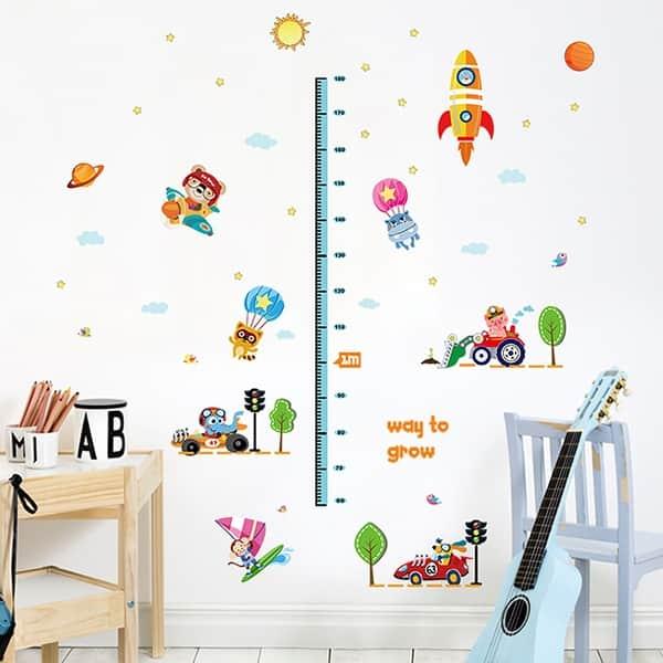 Shop ChezMax DIY Measure Height Gauge Wall Decals Wall ...
