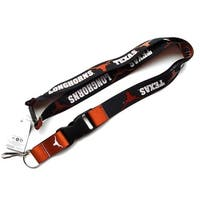 Texas Longhorns Reversible Clip Lanyard Keychain Id Ticket Holder