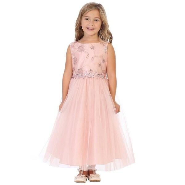 b2ce406c49f4c Shop My Best Kids Girls Dusty Rose Sequin Mesh Tulle Junior ...