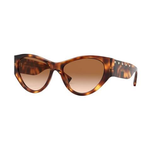 Valentino VA4071 501113 55 Havana Woman Irregular Sunglasses - Tortoise