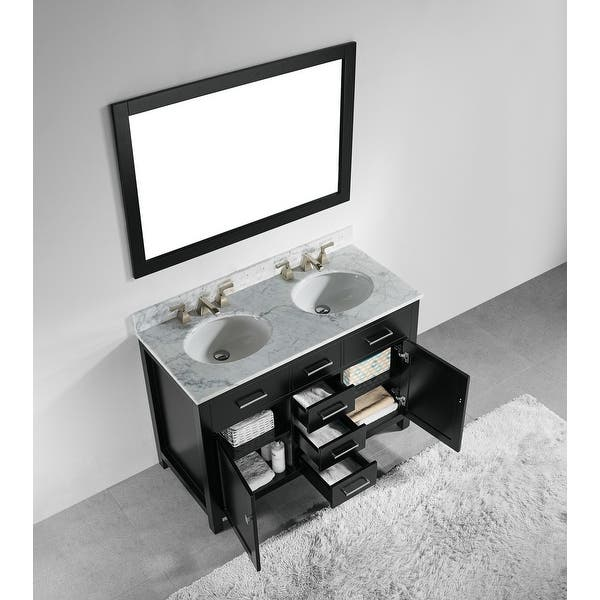 Shop Miseno Mvin4822 Pique 48 Double Vanity Set With Wood Cabinet