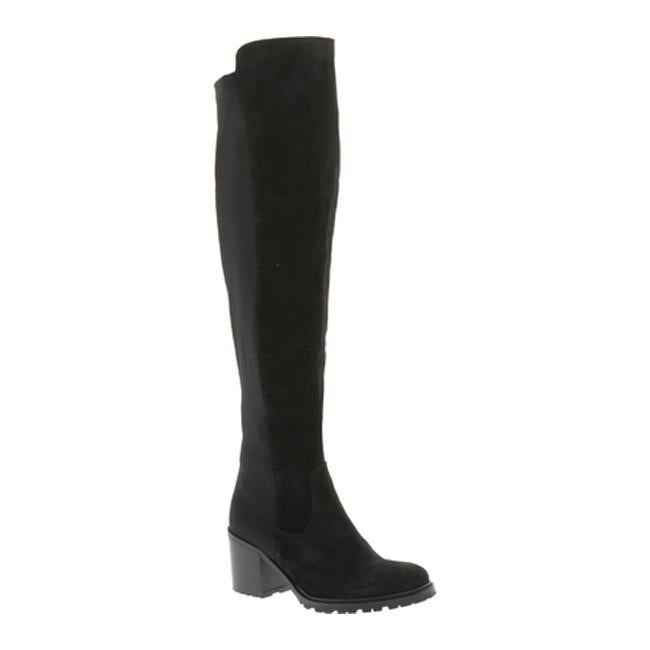 79369f6984b Kenneth Cole New York Women's Daste Over the Knee Boot Black Suede/Neoprene