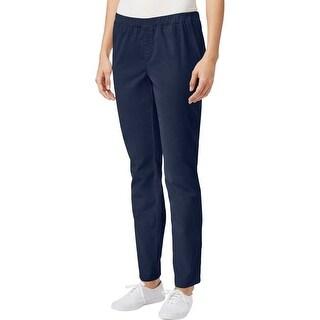 Karen Scott Womens Petites Casual Pants Straight Elastic