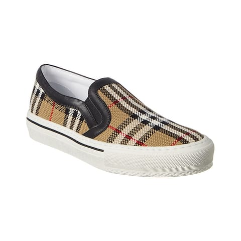 Burberry Vintage Check Leather Slip-On Sneaker