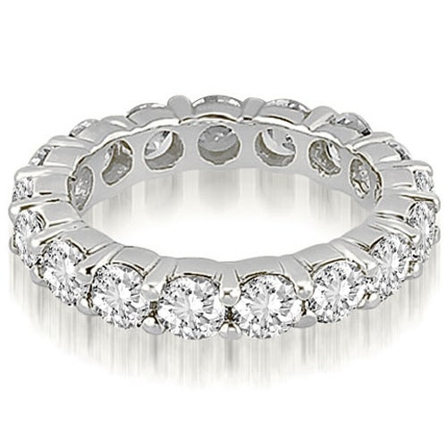 3.40 cttw. 14K White Gold Round Diamond Eternity Ring,HI,SI1-2