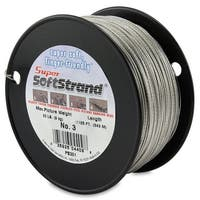 SuperSoftstrand Size 6 - 275-Feet Picture Wire Vinyl Coated Stranded Stainless Steel