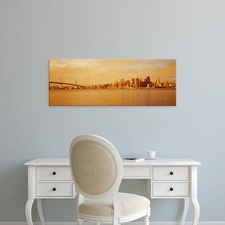 Easy Art Prints Panoramic Images's 'Buildings on the waterfront, San Francisco, California, USA' Premium Canvas Art