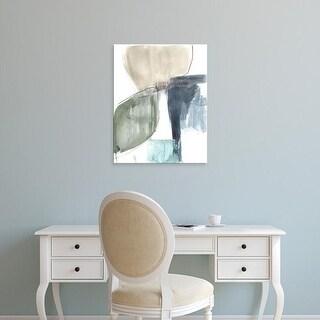 Easy Art Prints Jennifer Goldberger's 'Verdant Divide I' Premium Canvas Art