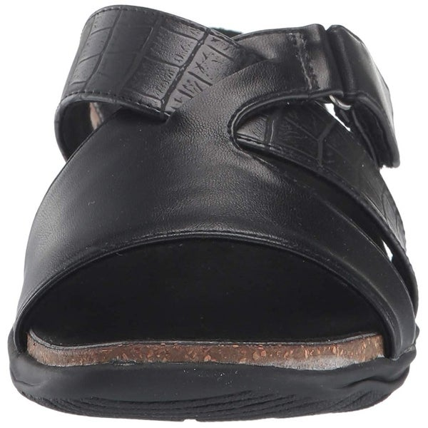 Easy Street Womens Frenzy Leather Open Toe Casual Slide Sandals. Opens flyout.
