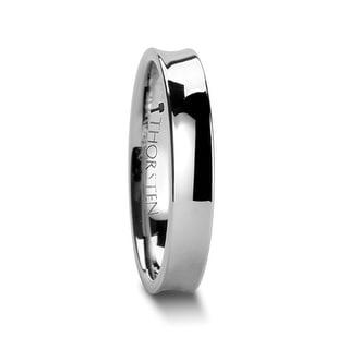WASHINGTON Polish Finished Concave Tungsten Wedding Band - 4mm