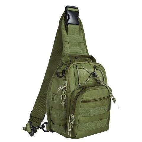 Tactical Military Sling Backpack Shoulder Bag MOLLE Outdoor Daypack Backpack