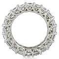 Lucida 3.30 cttw. 14K White Gold Round Cut Diamond Eternity Wedding Ring - Thumbnail 1