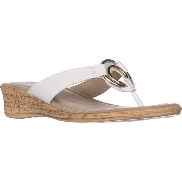 5c749d625 Shop Tuscany by Easy Street Fina Wedge Thong Sandals