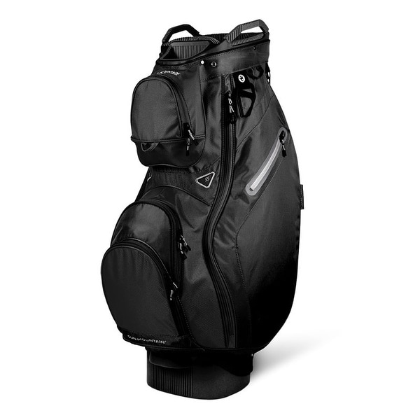 New 2019 Sun Mountain Phantom (No Logo) Cart Bag (Black) - Black