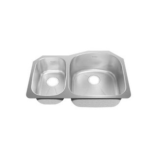 "American Standard 14CL.322100.073 Prevoir 31-1/2"" Double Basin Undermount Stainless Steel Kitchen Sink"