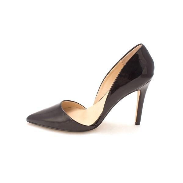 Ann Marino April Women Pointed Toe Synthetic Black Heels - 10