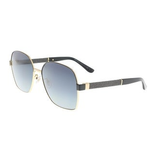 Jimmy Choo Sia/F/S 0AE2 Black Gradient Square Glitter Sunglasses - 61-17-140