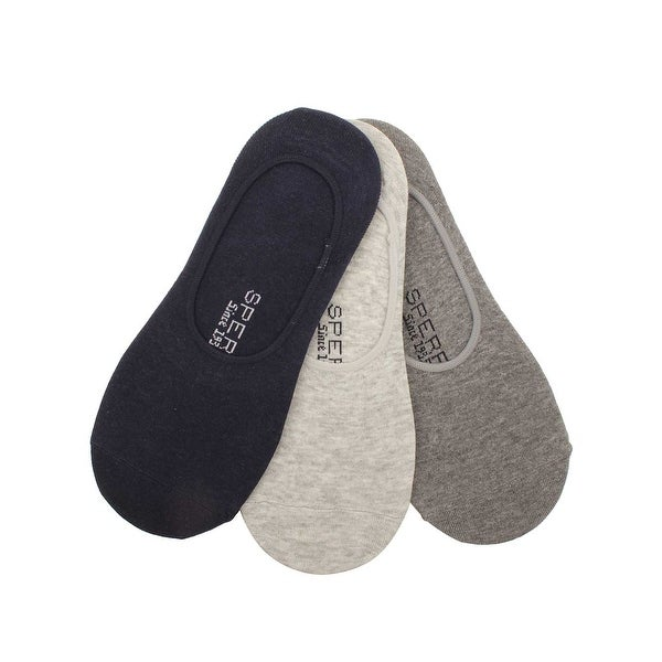 Sperry Mens 3 Pack No Show Liner Socks in Navy/Charcoal