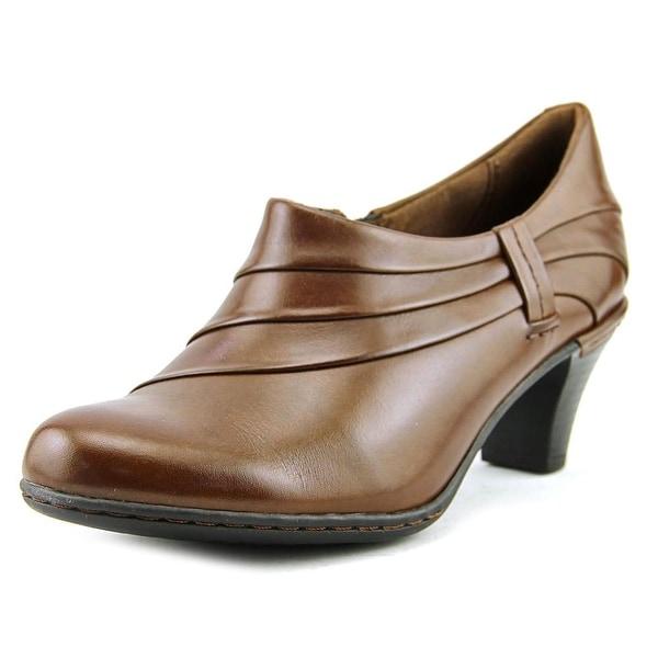 Cobb Hill Melissa Women Round Toe Leather Brown Heels