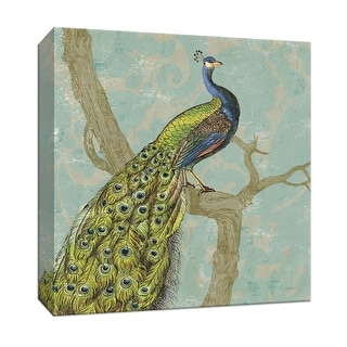 "PTM Images 9-153036  PTM Canvas Collection 12"" x 12"" - ""Paisley Peacock"" Giclee Peacocks Art Print on Canvas"