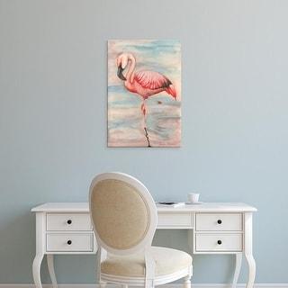 Easy Art Prints Jennifer Goldberger's 'Pink Flamingo II' Premium Canvas Art