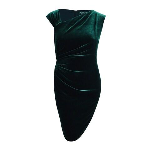 Lauren by Ralph Lauren Women's Stretch-Velvet Sheath Dress