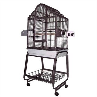 A&E Cage 703 Platinum Victorian Top Cage With Removable Stand
