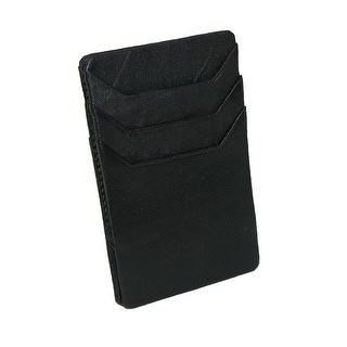 Paul & Taylor Men's Leather Compact Magic Elastic Band Organizer Wallet - Black - One size