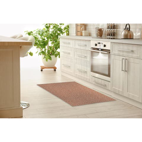 LEOPARD RUST Kitchen Mat by Marina Gutierrez