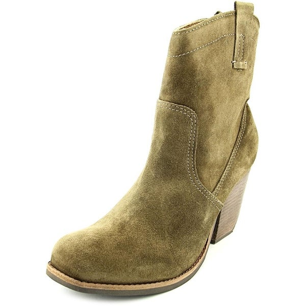 Matisse Galveston Women Square Toe Suede Green Ankle Boot