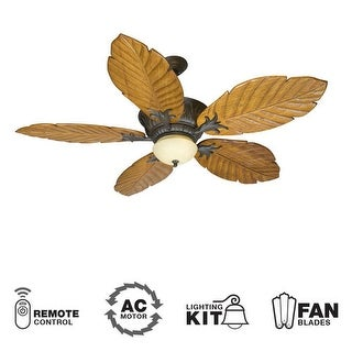 "Craftmade K10344 Pavilion 56"" 5 Blade Indoor Ceiling Fan - Blades, Remote and Light Kit Included"