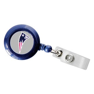 New England Patriots Retractable Badge Reel Id Ticket Clip